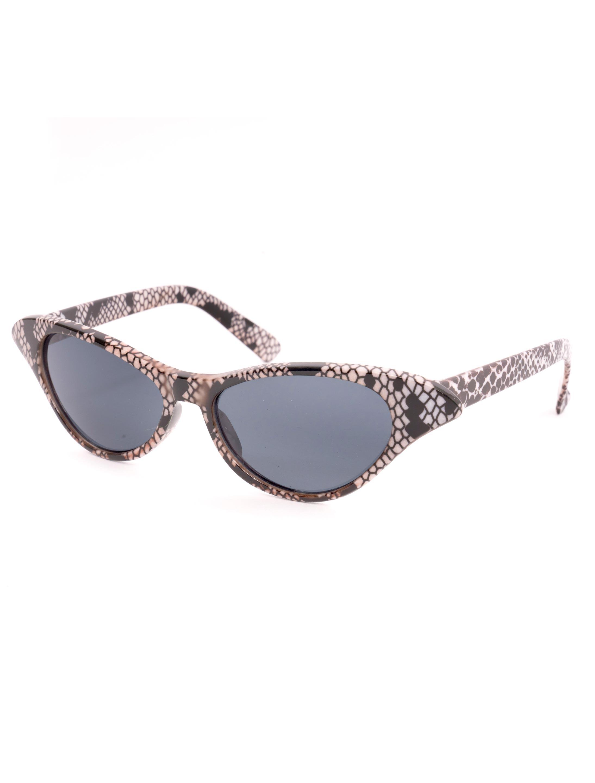 Kostuemzubehor Brille Schlangenhaut-Optik Farbe: schwarz/weiss