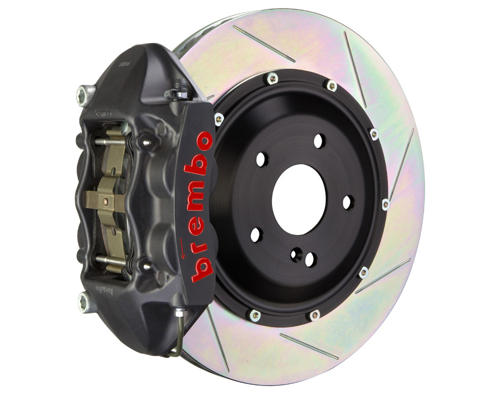 Brembo GT-S 345x28 2-Piece 4 Piston Hard Anodized Slotted Front Big Brake Kit
