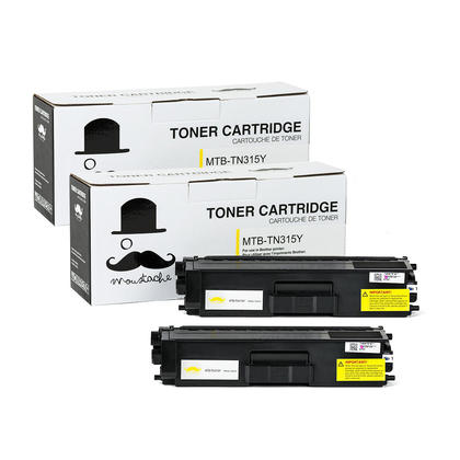 Compatible Brother TN315Y Yellow Toner Cartridge High Yield - Moustache@ - 2/Pack
