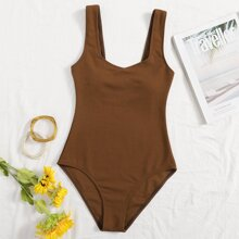 Ribbed Tank One Piece Swimsuit
