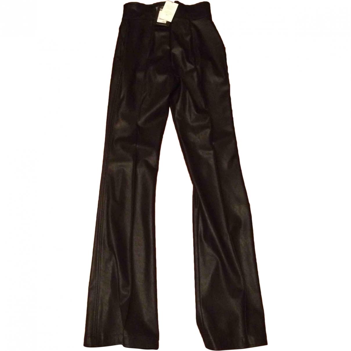 Pantalon en Sintetico Negro Elisabetta Franchi