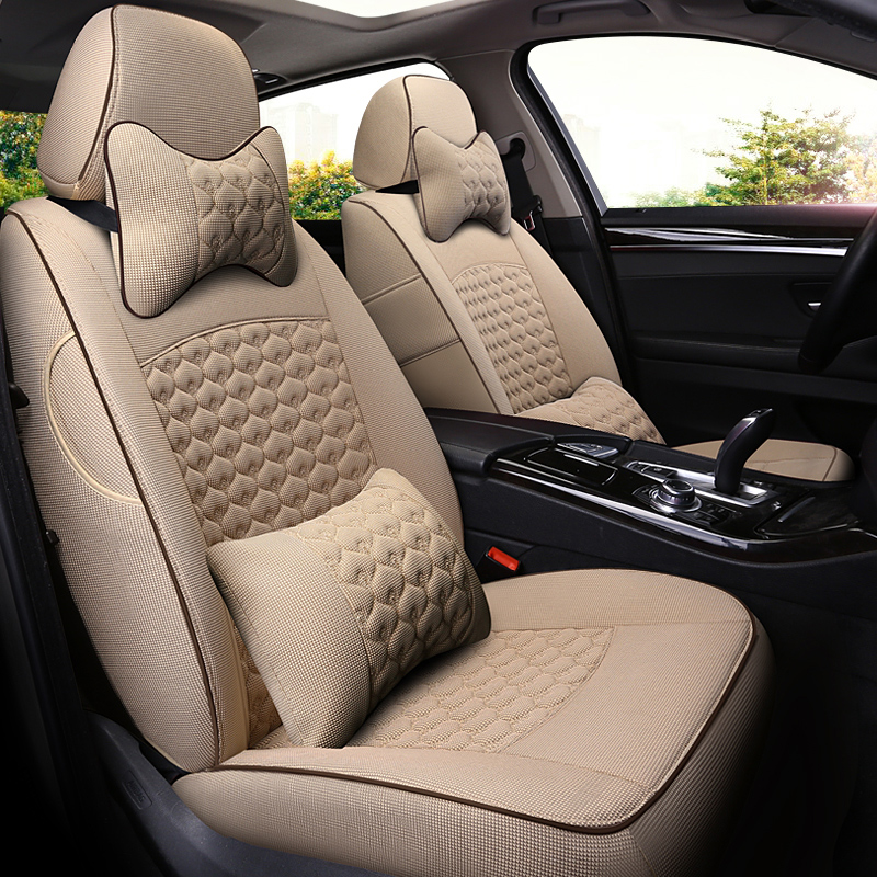 Luxury Color Block Simple Style Cloth Art Custom Car Seat Cover