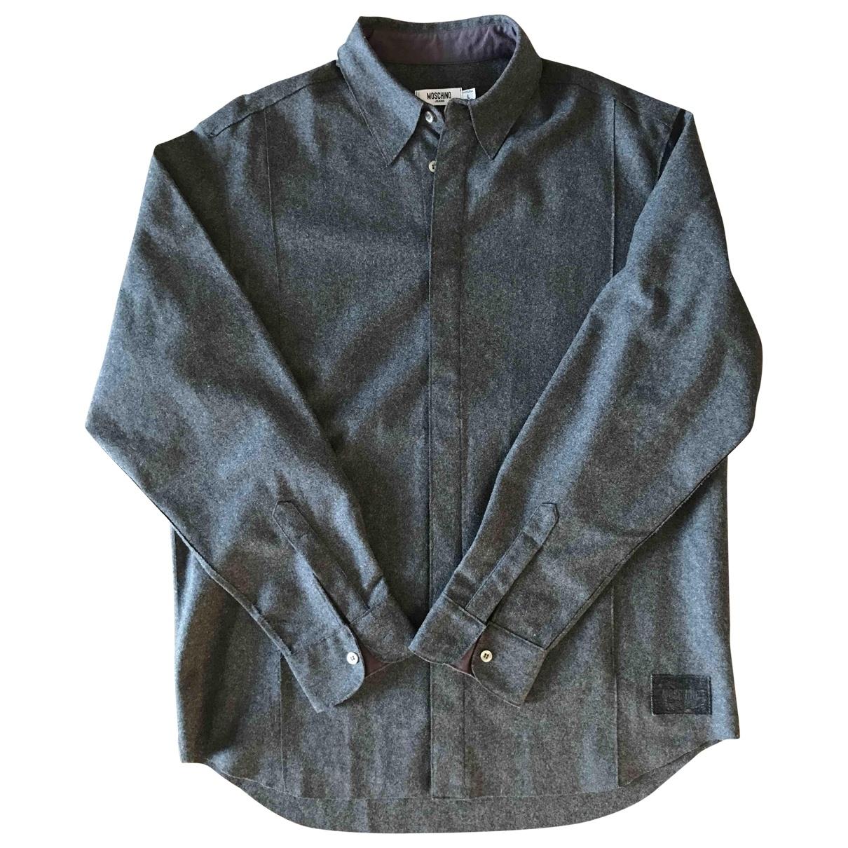 Moschino - Chemises   pour homme en laine - anthracite