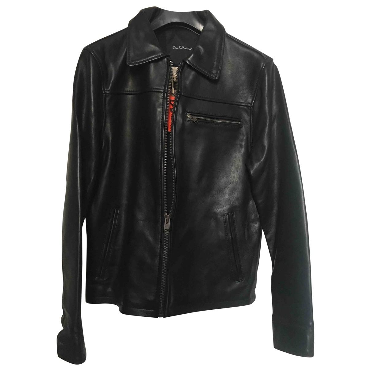 Deus Ex Machina - Vestes.Blousons   pour homme en cuir - noir