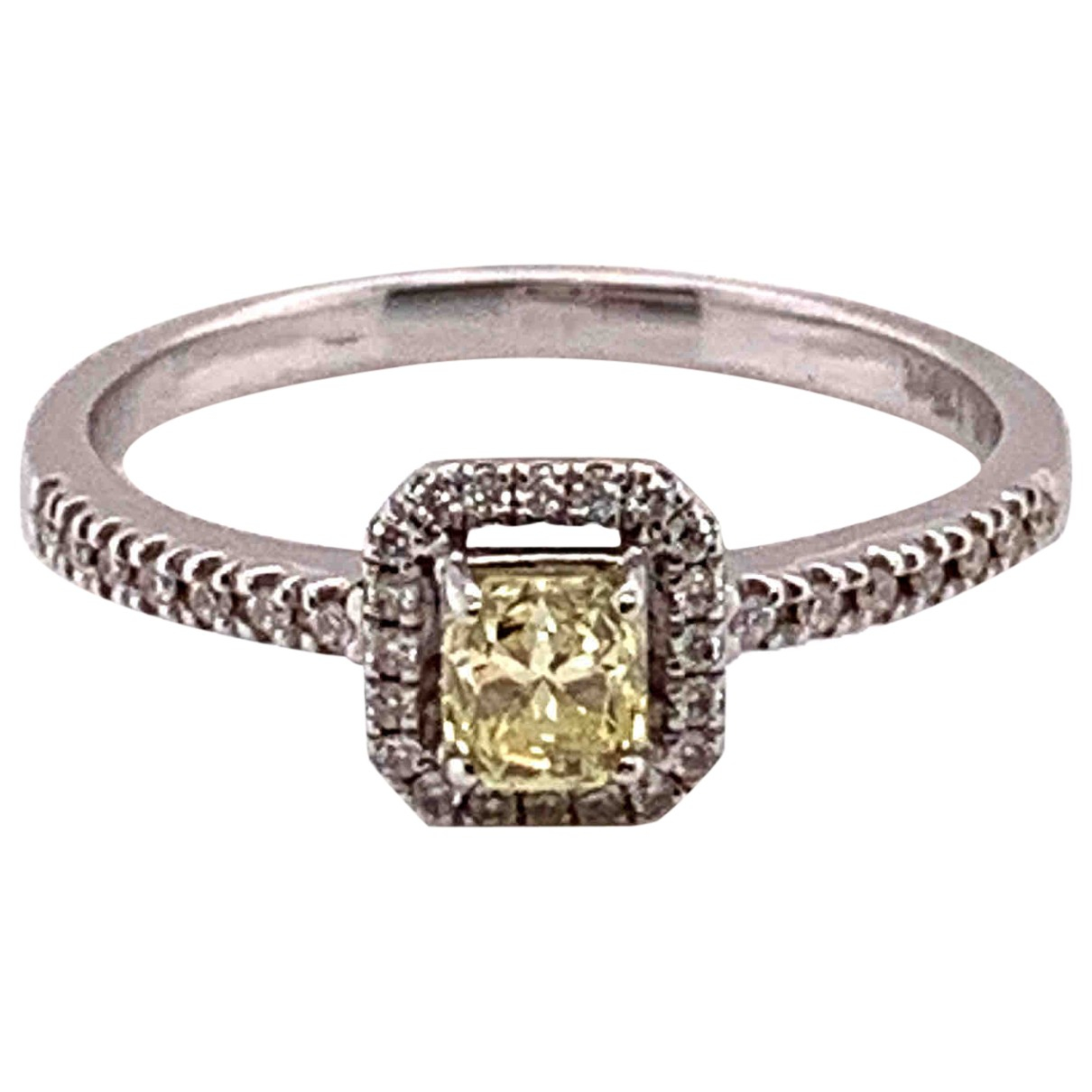 Non Signé / Unsigned \N Yellow White gold ring for Women 7 ½ US