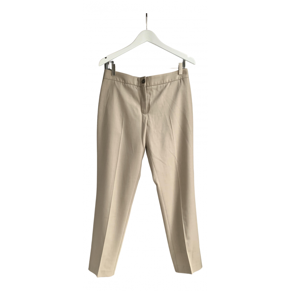 Maison Martin Margiela \N Beige Wool Trousers for Women 42 IT