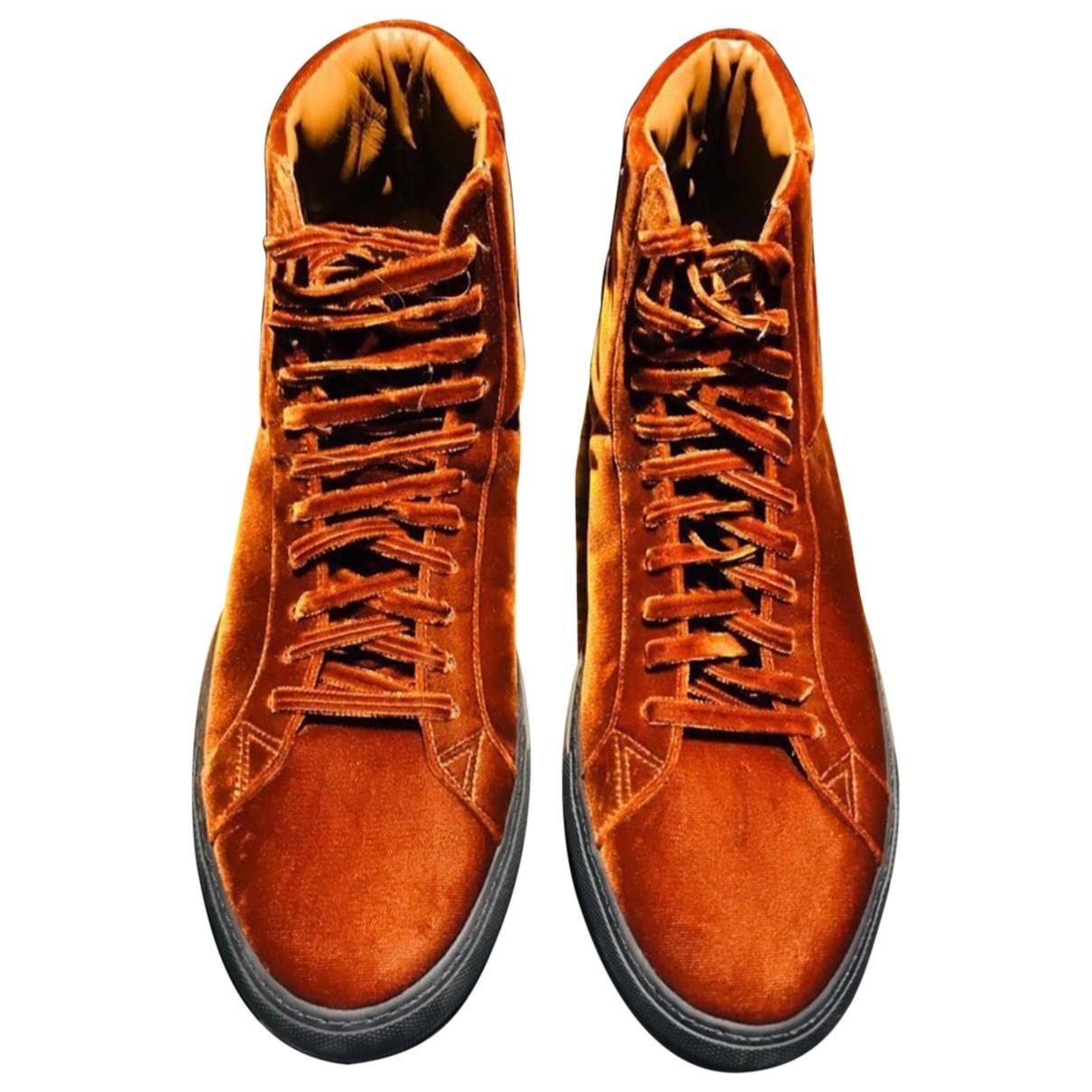 Givenchy - Baskets   pour homme en velours - marron
