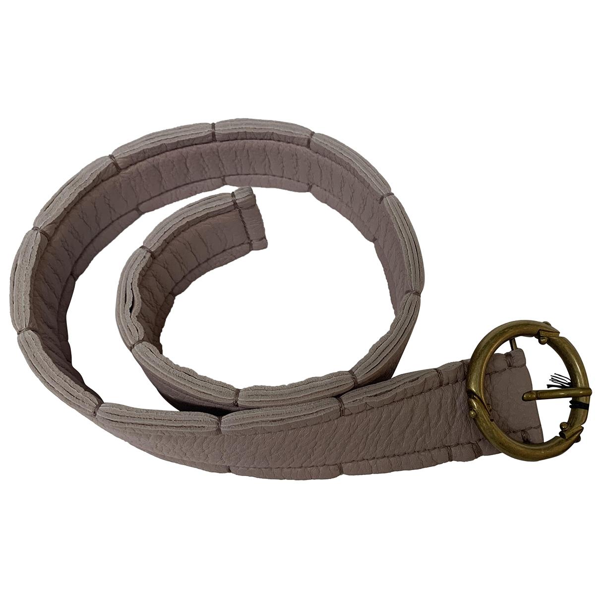 Bottega Veneta N Beige Leather belt for Women 70 cm