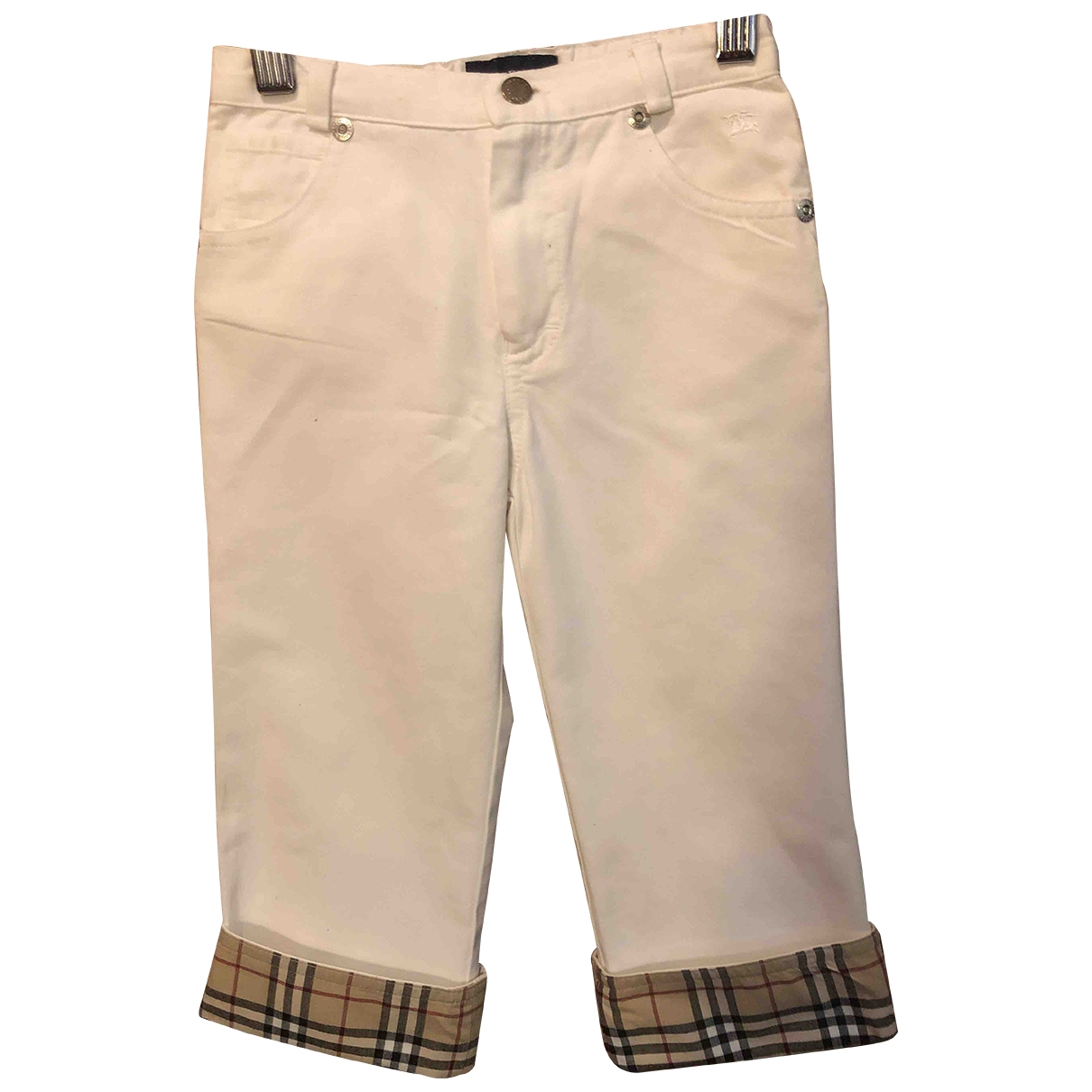 Burberry \N White Cotton Trousers for Kids 2 years - up to 86cm FR