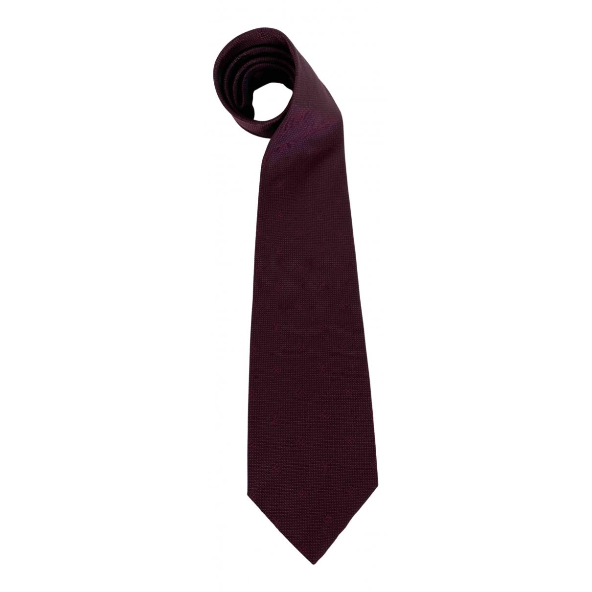 Louis Vuitton \N Krawatten in  Bordeauxrot Seide
