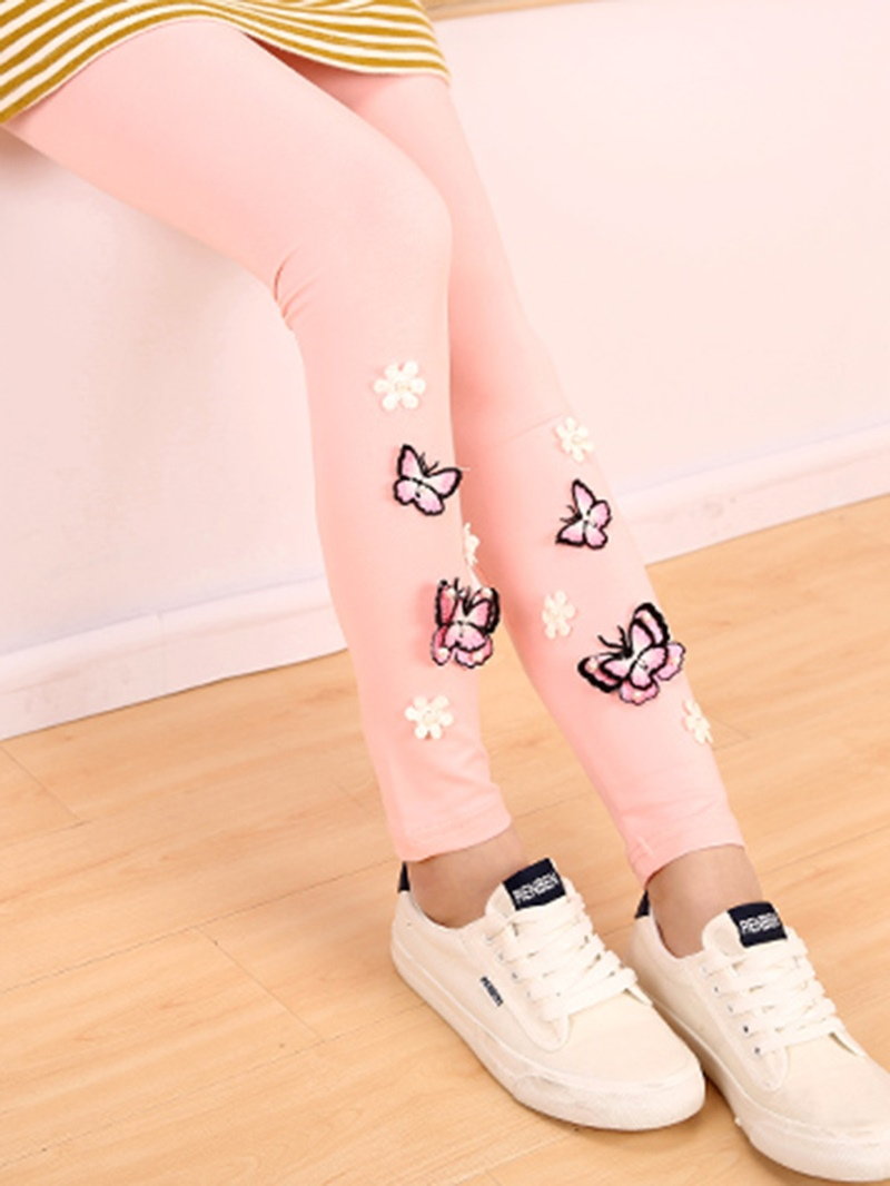 Ericdress Beading 3D Butterfly Girls Leggings