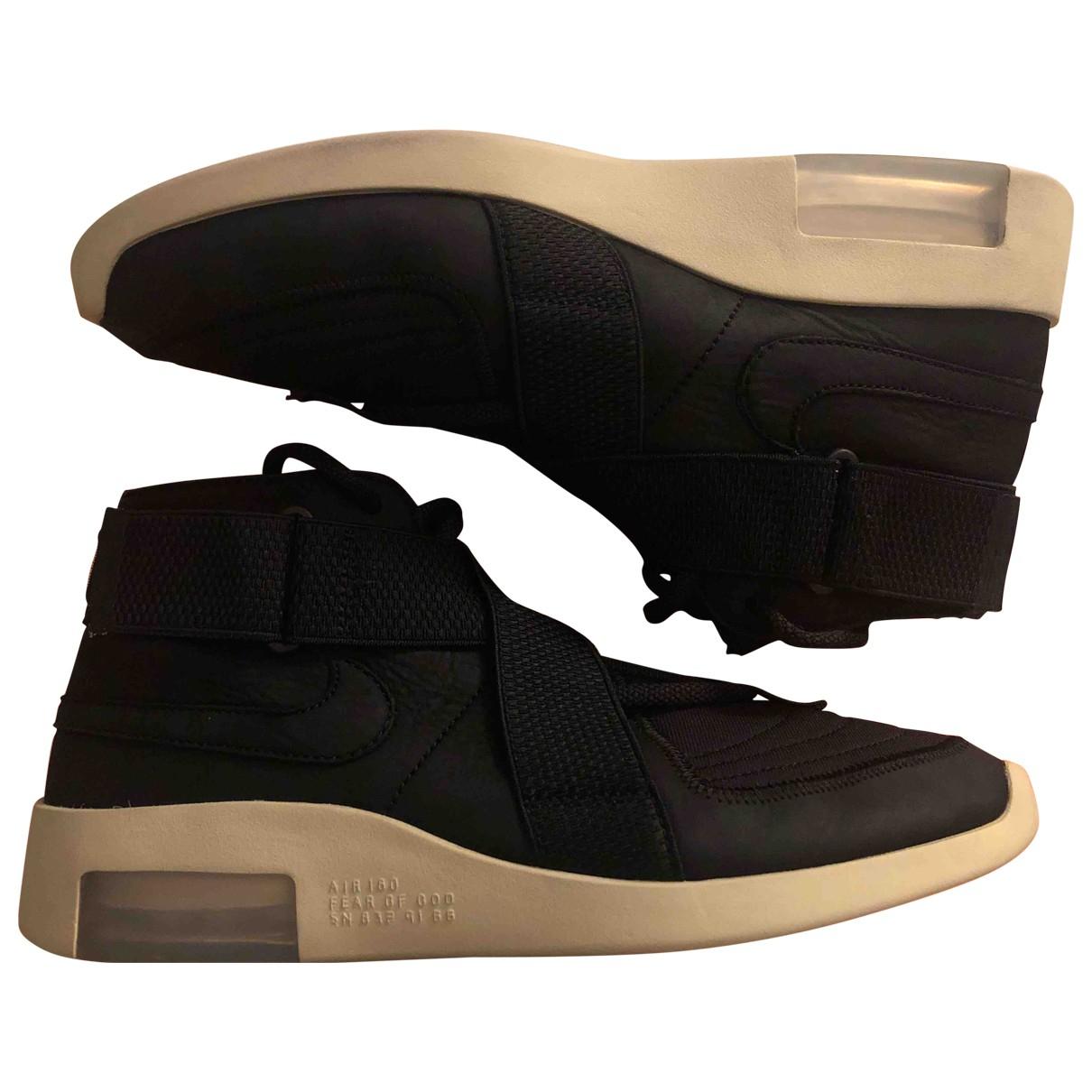 Nike X Fear Of God - Baskets Air FOG 1 pour homme en suede - noir