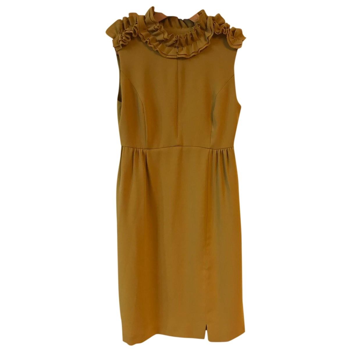 Dice Kayek \N Kleid in  Gelb Polyester