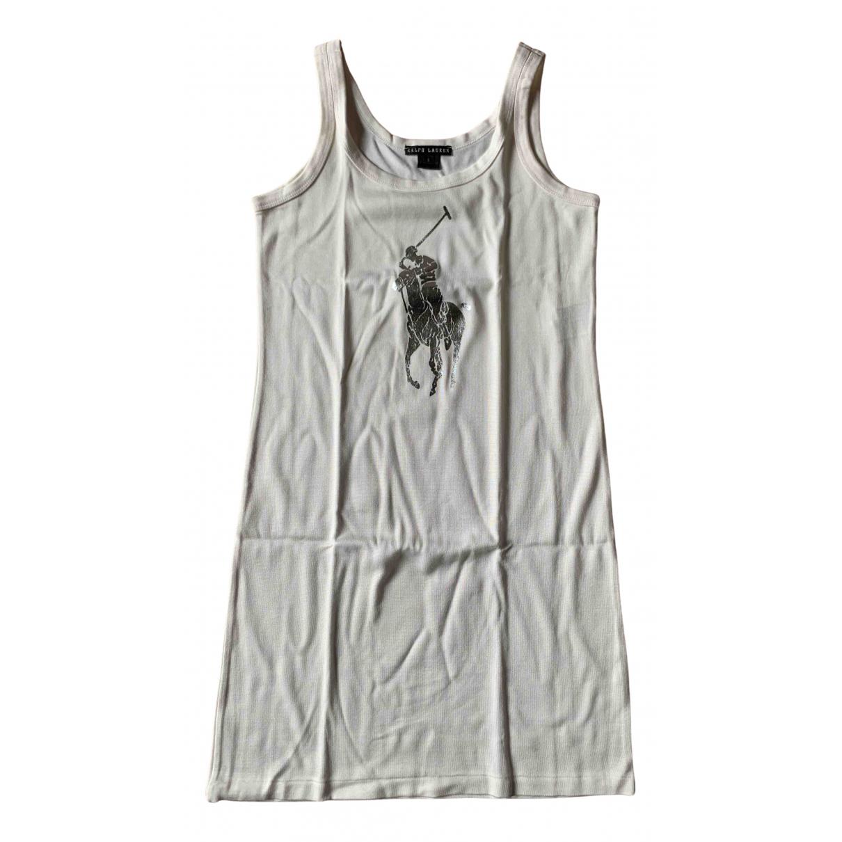Ralph Lauren \N Kleid in  Weiss Baumwolle - Elasthan