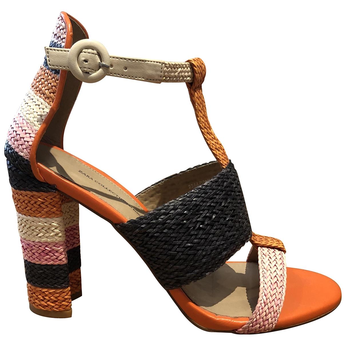 Zara - Escarpins   pour femme en cuir - multicolore
