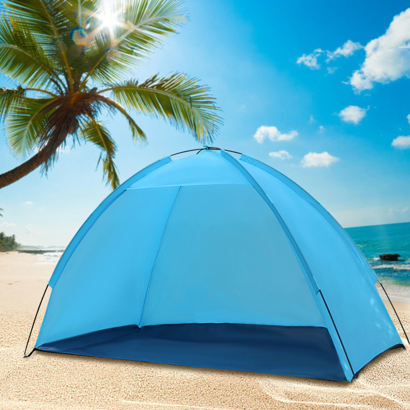 Outdoor Beach Seaside Tent Sunshade Anti-UV Sun Shelter Single Layer Camping Canopy