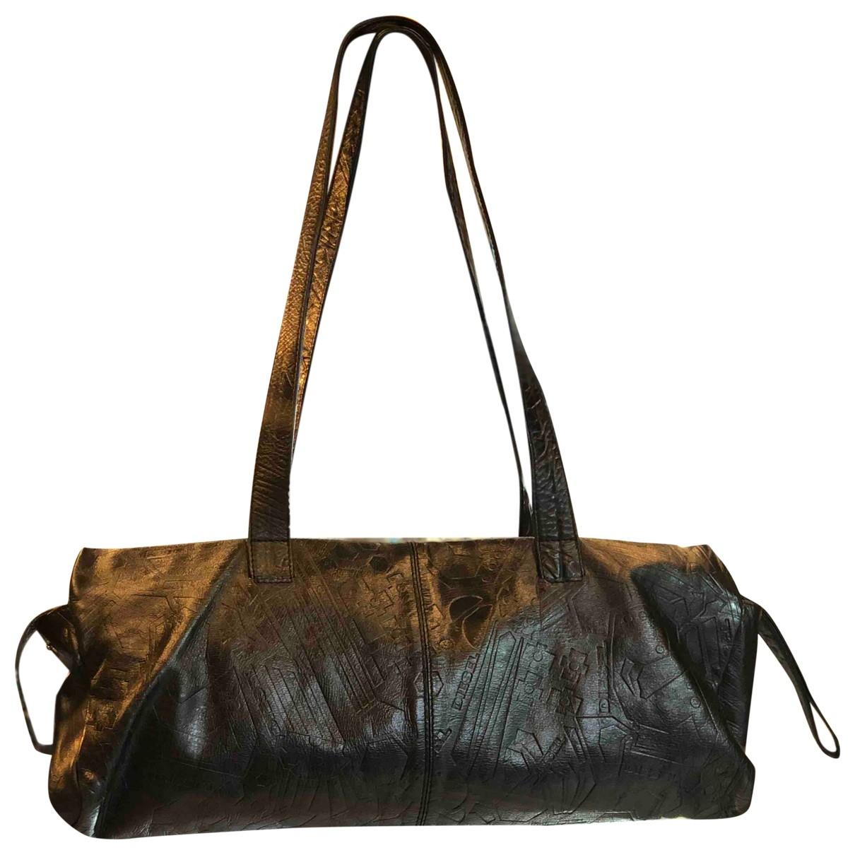 Diesel \N Handtasche in  Schwarz Leder