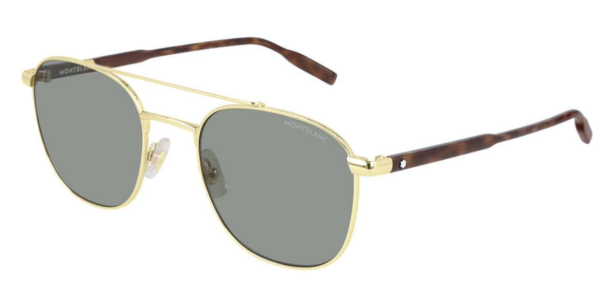 Mont Blanc MB0114S 003 Mens Sunglasses Gold Size 54