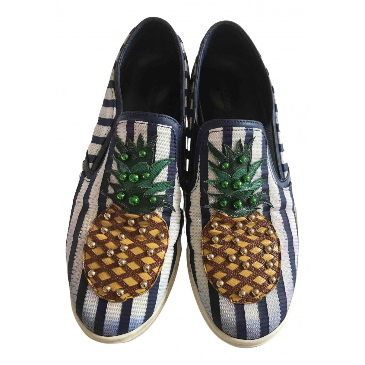 Dolce & Gabbana \N Sneakers in  Weiss Leinen