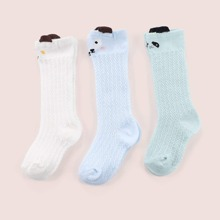 3 Paare Baby Socken mit Karikatur Grafik