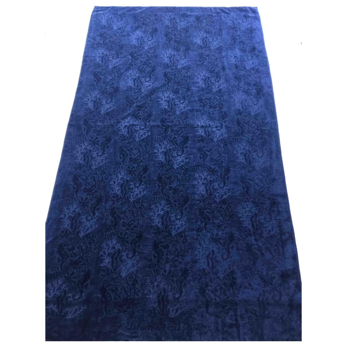 Salvatore Ferragamo - Linge de maison   pour lifestyle en coton - bleu