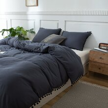 Set de cama con pompon sin relleno
