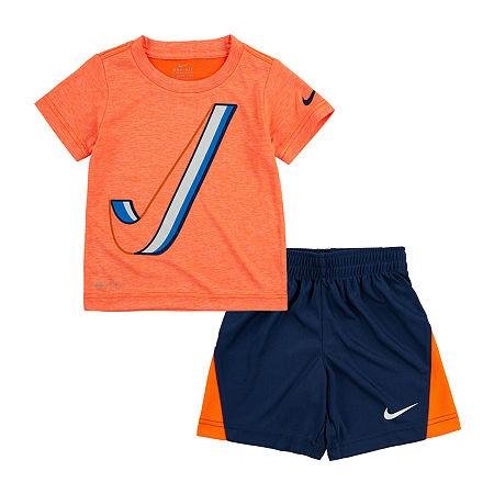 Nike Toddler Boys 2-pc. Short Set, 4t , Blue