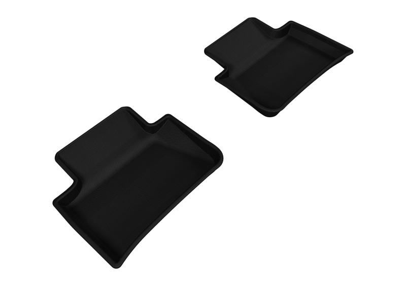 3D MAXpider 2014-2019 Porsche Macan Kagu 2nd Row Floormats - Black