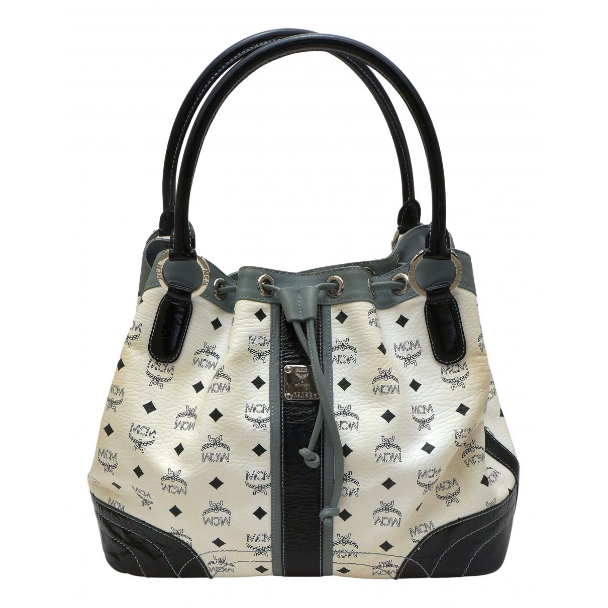 Mcm N White Cloth handbag for Women N