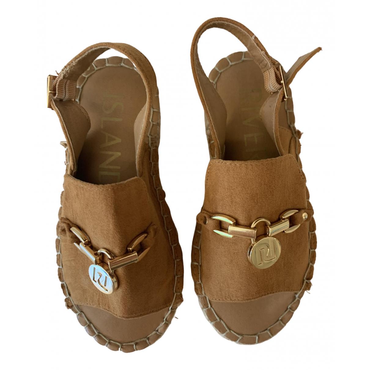River Island - Sandales   pour enfant en cuir verni - camel