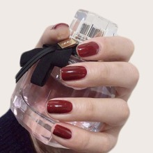 24pcs Fake Nail With Double-side Tape