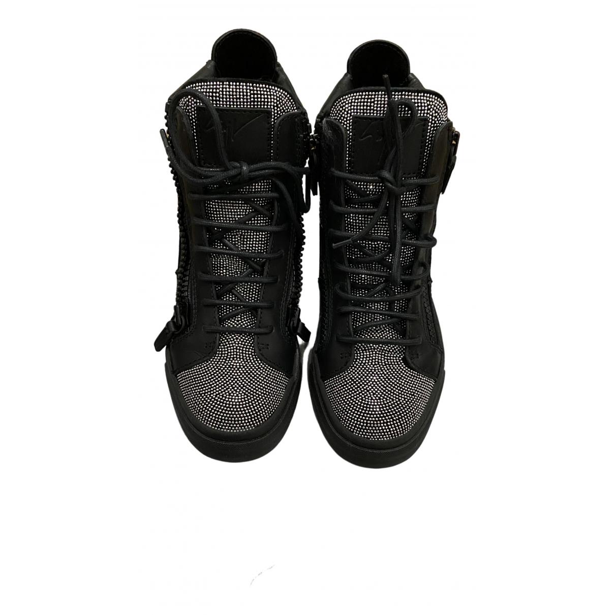 Giuseppe Zanotti Donna Sneakers in  Schwarz Leder