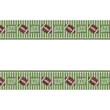 Game Day Football Rectangular Plastic Table Cover, 54