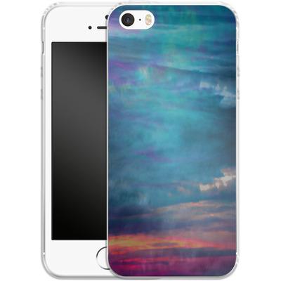 Apple iPhone SE Silikon Handyhuelle - Ocean Sky von Amy Sia