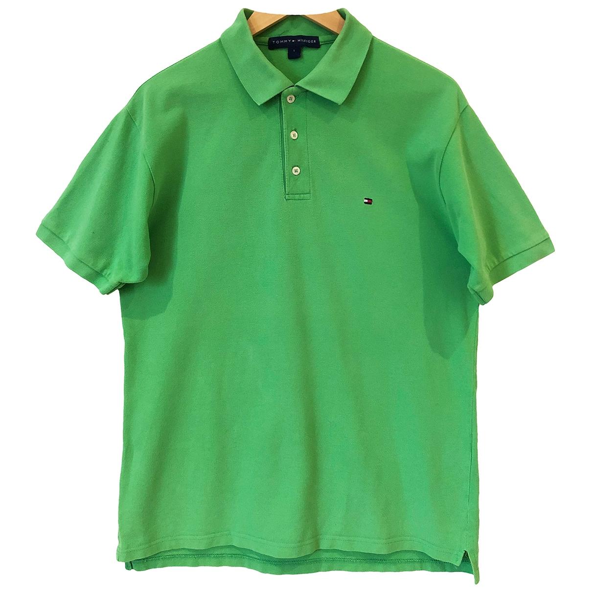 Polo en Algodon Verde Tommy Hilfiger