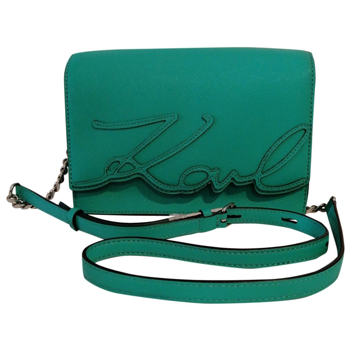 Karl Lagerfeld \N Green Leather Clutch bag for Women \N