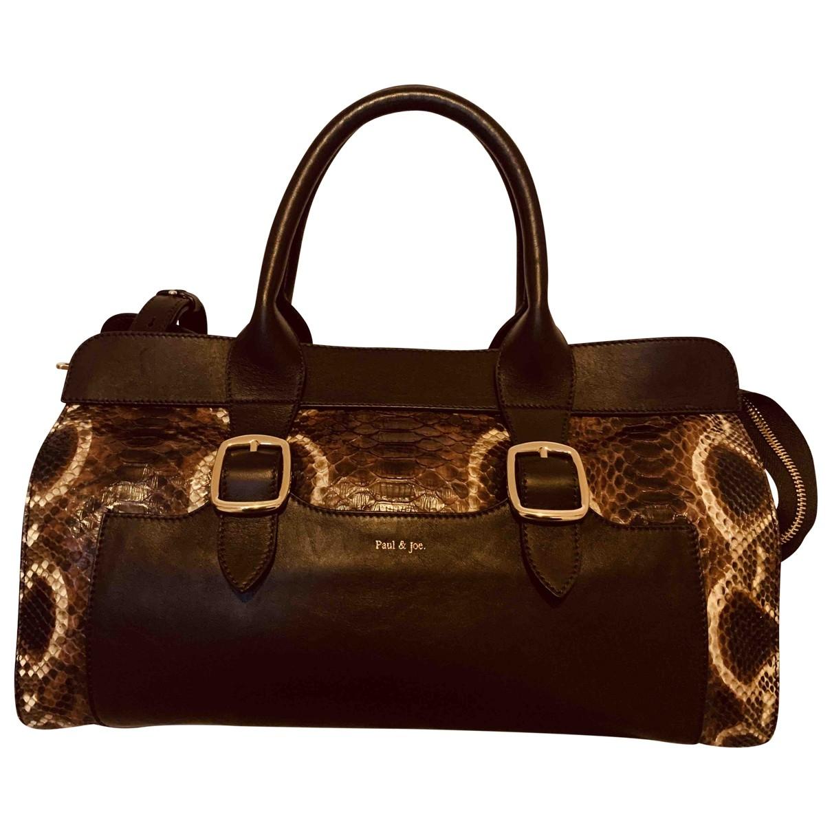 Paul & Joe \N Brown Python handbag for Women \N