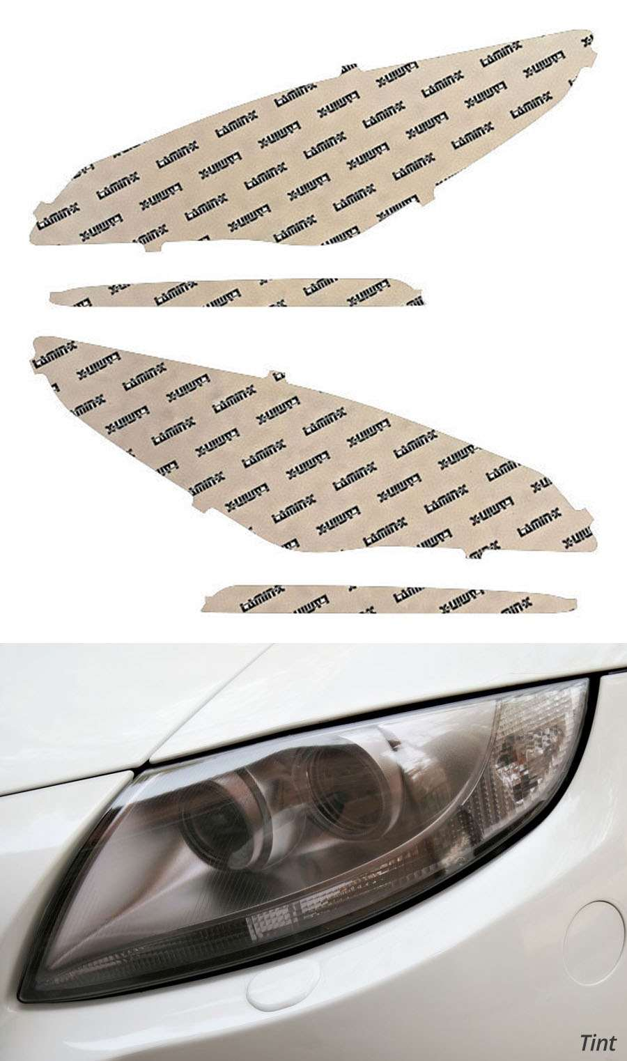 Hyundai Sonata 15-17 Tint Headlight Covers Lamin-X HY029T