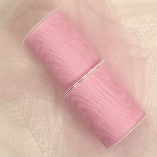 Fabric Cloth Pink Tulle Rolls 18