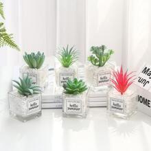 1pc Artificial Succulent Potted Plant