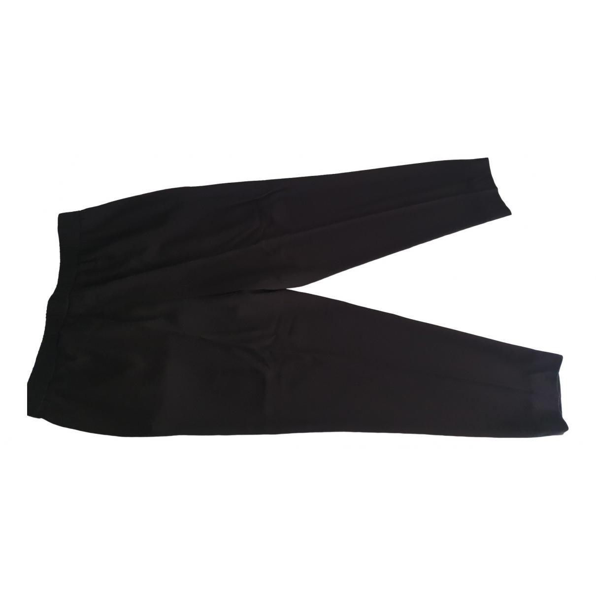 Pantalon en Poliester Negro Escada