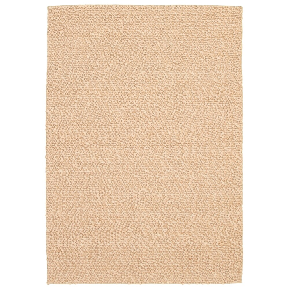 ECARPETGALLERY  Braid weave Sienna Beige Wool Rug - 5'2 x 7'4 (Beige - 5'2 x 7'4)