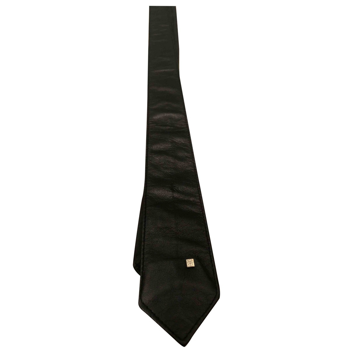 Givenchy \N Krawatten in  Schwarz Leder