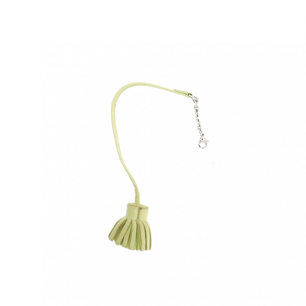 Hermes - Bijoux de sac Carmencita pour femme en cuir - vert