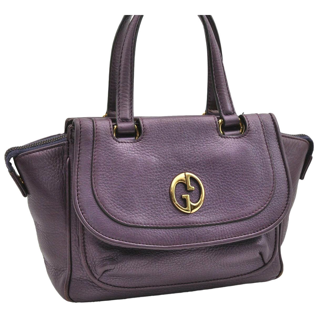 Gucci N Purple Leather handbag for Women N