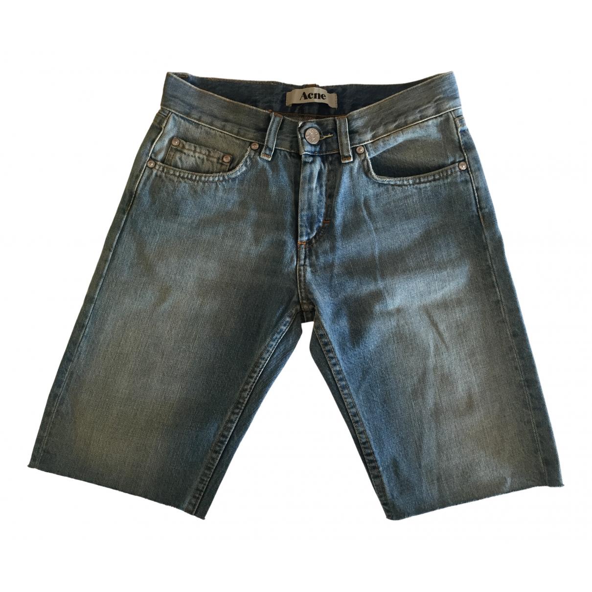 Acne Studios \N Blue Denim - Jeans Shorts for Women XS International