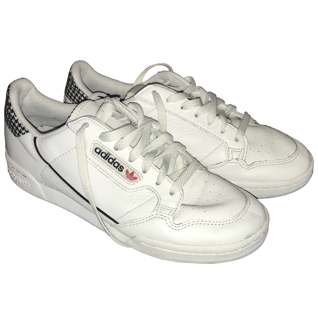 Adidas Continental 80 Sneakers in  Weiss Leder