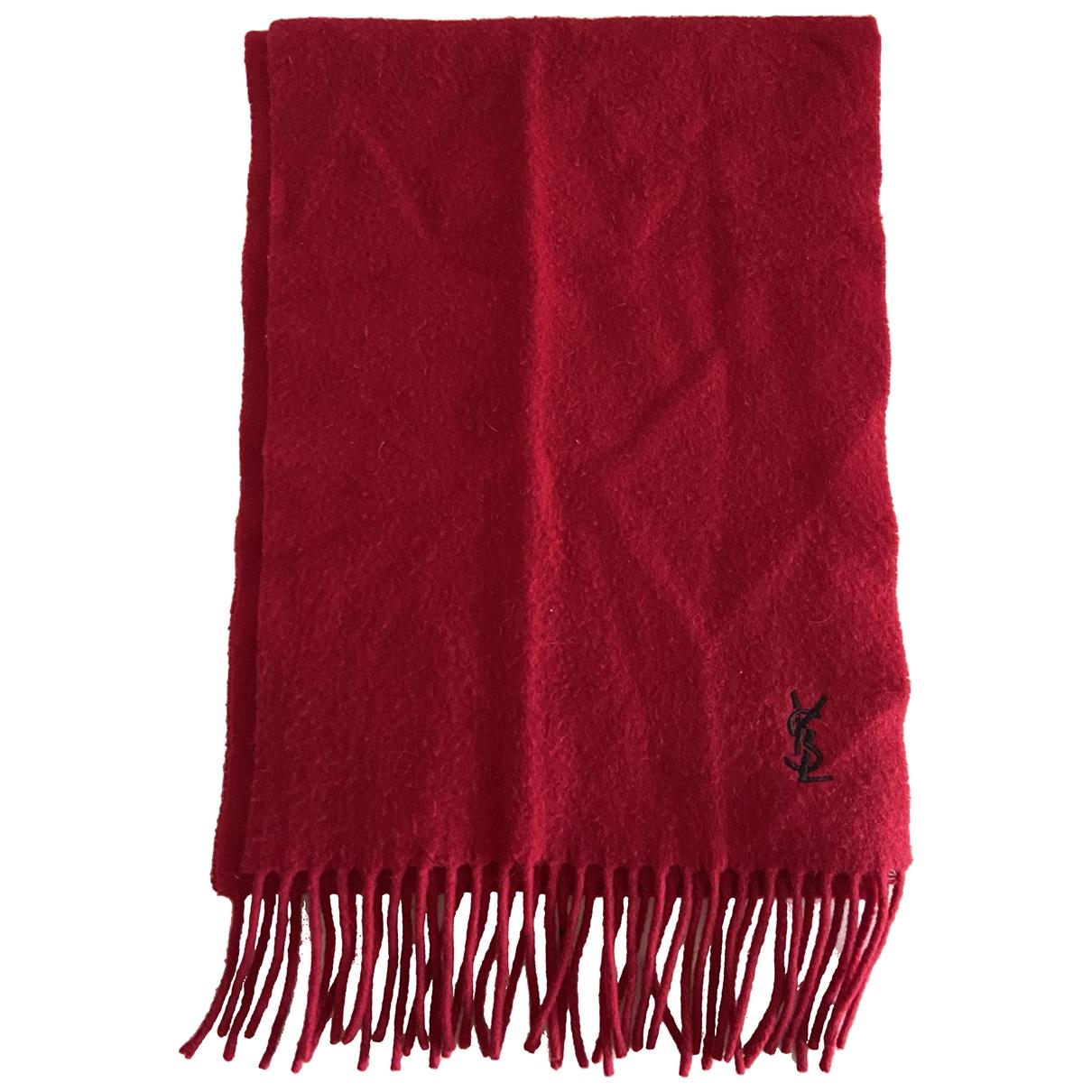 Yves Saint Laurent \N Red Cashmere scarf & pocket squares for Men \N