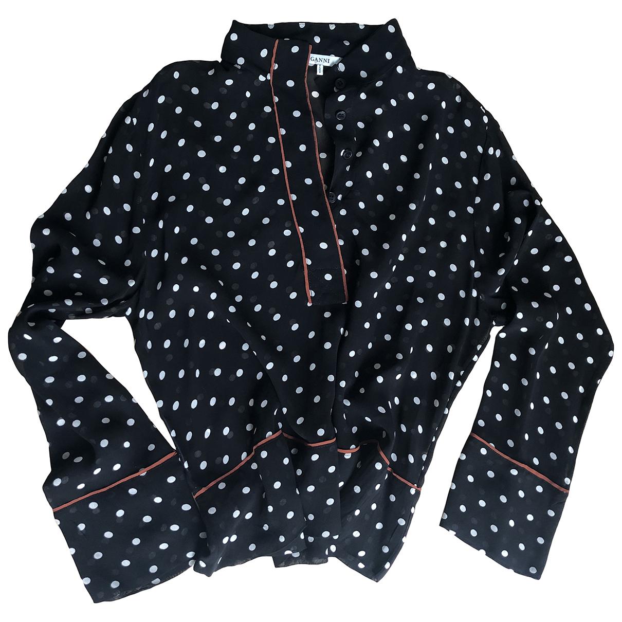 Ganni \N Anthracite Leather jacket for Women M International
