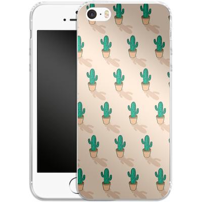 Apple iPhone 5s Silikon Handyhuelle - Cactus Pot von caseable Designs